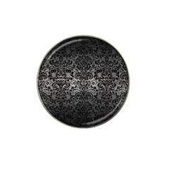 Damask2 Black Marble & Gray Metal 1 (r) Hat Clip Ball Marker (10 Pack)