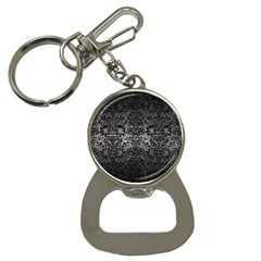 Damask2 Black Marble & Gray Metal 1 (r) Button Necklaces