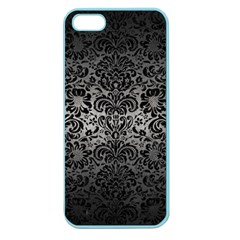 Damask2 Black Marble & Gray Metal 1 (r) Apple Seamless Iphone 5 Case (color)