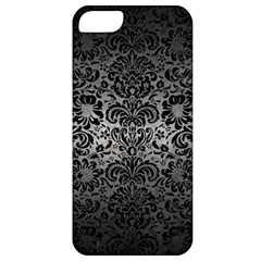 Damask2 Black Marble & Gray Metal 1 (r) Apple Iphone 5 Classic Hardshell Case