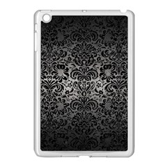 Damask2 Black Marble & Gray Metal 1 (r) Apple Ipad Mini Case (white)