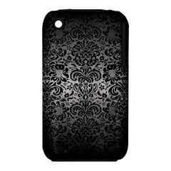 Damask2 Black Marble & Gray Metal 1 (r) Iphone 3s/3gs