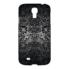 Damask2 Black Marble & Gray Metal 1 (r) Samsung Galaxy S4 I9500/i9505 Hardshell Case