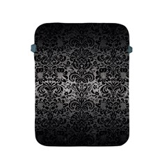 Damask2 Black Marble & Gray Metal 1 (r) Apple Ipad 2/3/4 Protective Soft Cases