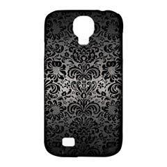 Damask2 Black Marble & Gray Metal 1 (r) Samsung Galaxy S4 Classic Hardshell Case (pc+silicone)