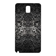 Damask2 Black Marble & Gray Metal 1 (r) Samsung Galaxy Note 3 N9005 Hardshell Back Case