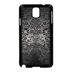 Damask2 Black Marble & Gray Metal 1 (r) Samsung Galaxy Note 3 Neo Hardshell Case (black)