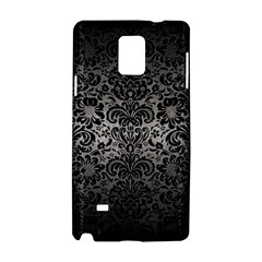 Damask2 Black Marble & Gray Metal 1 (r) Samsung Galaxy Note 4 Hardshell Case