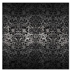 Damask2 Black Marble & Gray Metal 1 (r) Large Satin Scarf (square)