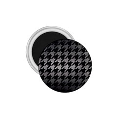 Houndstooth1 Black Marble & Gray Metal 1 1 75  Magnets