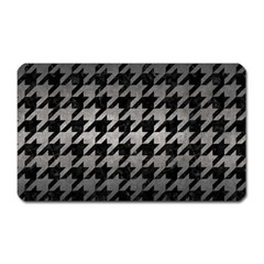Houndstooth1 Black Marble & Gray Metal 1 Magnet (rectangular)