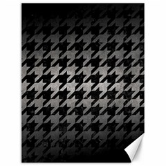 Houndstooth1 Black Marble & Gray Metal 1 Canvas 12  X 16