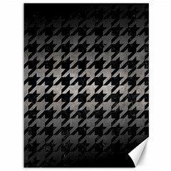 Houndstooth1 Black Marble & Gray Metal 1 Canvas 36  X 48