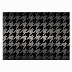 Houndstooth1 Black Marble & Gray Metal 1 Large Glasses Cloth (2 Side)