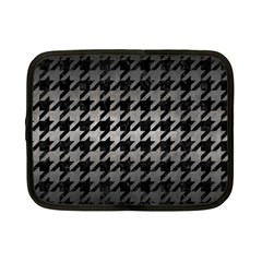 Houndstooth1 Black Marble & Gray Metal 1 Netbook Case (small)