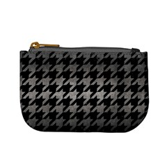 Houndstooth1 Black Marble & Gray Metal 1 Mini Coin Purses