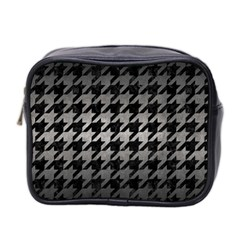 Houndstooth1 Black Marble & Gray Metal 1 Mini Toiletries Bag 2 Side