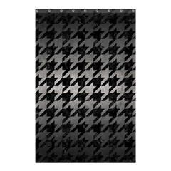 Houndstooth1 Black Marble & Gray Metal 1 Shower Curtain 48  X 72  (small)