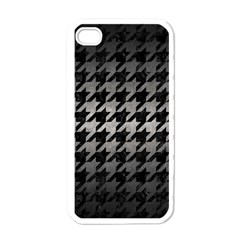Houndstooth1 Black Marble & Gray Metal 1 Apple Iphone 4 Case (white)