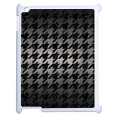 Houndstooth1 Black Marble & Gray Metal 1 Apple Ipad 2 Case (white)