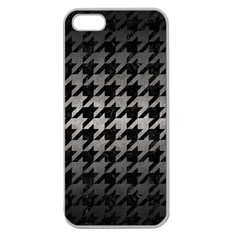 Houndstooth1 Black Marble & Gray Metal 1 Apple Seamless Iphone 5 Case (clear)