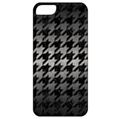 Houndstooth1 Black Marble & Gray Metal 1 Apple Iphone 5 Classic Hardshell Case