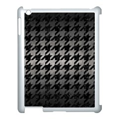 Houndstooth1 Black Marble & Gray Metal 1 Apple Ipad 3/4 Case (white)