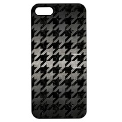Houndstooth1 Black Marble & Gray Metal 1 Apple Iphone 5 Hardshell Case With Stand