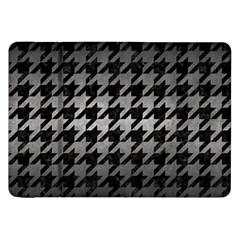 Houndstooth1 Black Marble & Gray Metal 1 Samsung Galaxy Tab 8 9  P7300 Flip Case