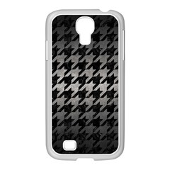 Houndstooth1 Black Marble & Gray Metal 1 Samsung Galaxy S4 I9500/ I9505 Case (white)