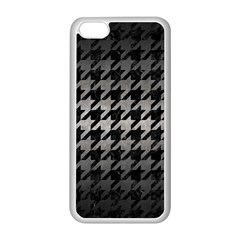 Houndstooth1 Black Marble & Gray Metal 1 Apple Iphone 5c Seamless Case (white)