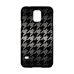 Houndstooth1 Black Marble & Gray Metal 1 Samsung Galaxy S5 Hardshell Case