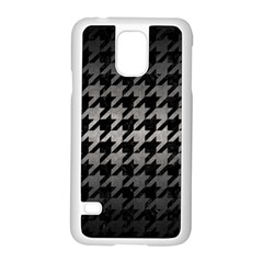 Houndstooth1 Black Marble & Gray Metal 1 Samsung Galaxy S5 Case (white)