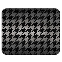 Houndstooth1 Black Marble & Gray Metal 1 Double Sided Flano Blanket (medium)