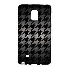 Houndstooth1 Black Marble & Gray Metal 1 Galaxy Note Edge