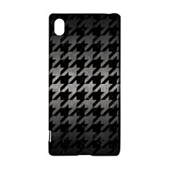 Houndstooth1 Black Marble & Gray Metal 1 Sony Xperia Z3+