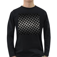 Houndstooth2 Black Marble & Gray Metal 1 Long Sleeve Dark T Shirts