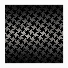 Houndstooth2 Black Marble & Gray Metal 1 Medium Glasses Cloth (2 Side)