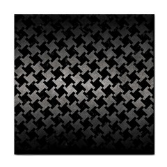 Houndstooth2 Black Marble & Gray Metal 1 Face Towel