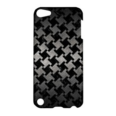 Houndstooth2 Black Marble & Gray Metal 1 Apple Ipod Touch 5 Hardshell Case