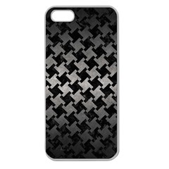 Houndstooth2 Black Marble & Gray Metal 1 Apple Seamless Iphone 5 Case (clear)