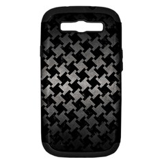 Houndstooth2 Black Marble & Gray Metal 1 Samsung Galaxy S Iii Hardshell Case (pc+silicone)