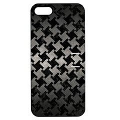 Houndstooth2 Black Marble & Gray Metal 1 Apple Iphone 5 Hardshell Case With Stand