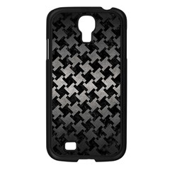 Houndstooth2 Black Marble & Gray Metal 1 Samsung Galaxy S4 I9500/ I9505 Case (black)