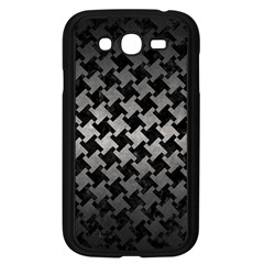 Houndstooth2 Black Marble & Gray Metal 1 Samsung Galaxy Grand Duos I9082 Case (black)