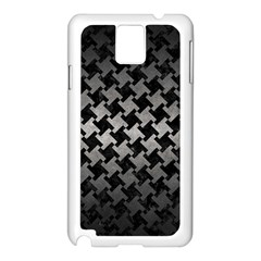 Houndstooth2 Black Marble & Gray Metal 1 Samsung Galaxy Note 3 N9005 Case (white)