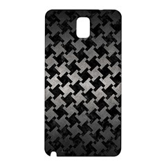 Houndstooth2 Black Marble & Gray Metal 1 Samsung Galaxy Note 3 N9005 Hardshell Back Case