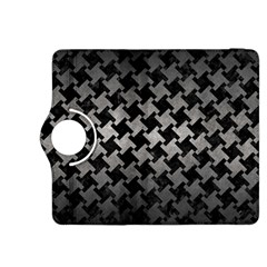 Houndstooth2 Black Marble & Gray Metal 1 Kindle Fire Hdx 8 9  Flip 360 Case