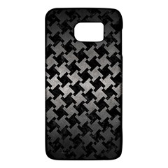 Houndstooth2 Black Marble & Gray Metal 1 Galaxy S6