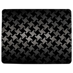 Houndstooth2 Black Marble & Gray Metal 1 Jigsaw Puzzle Photo Stand (rectangular)